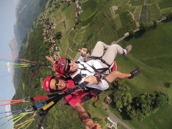 swiss Paragliding tandem flight
