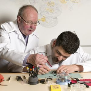 Swiss watchmaking workshop