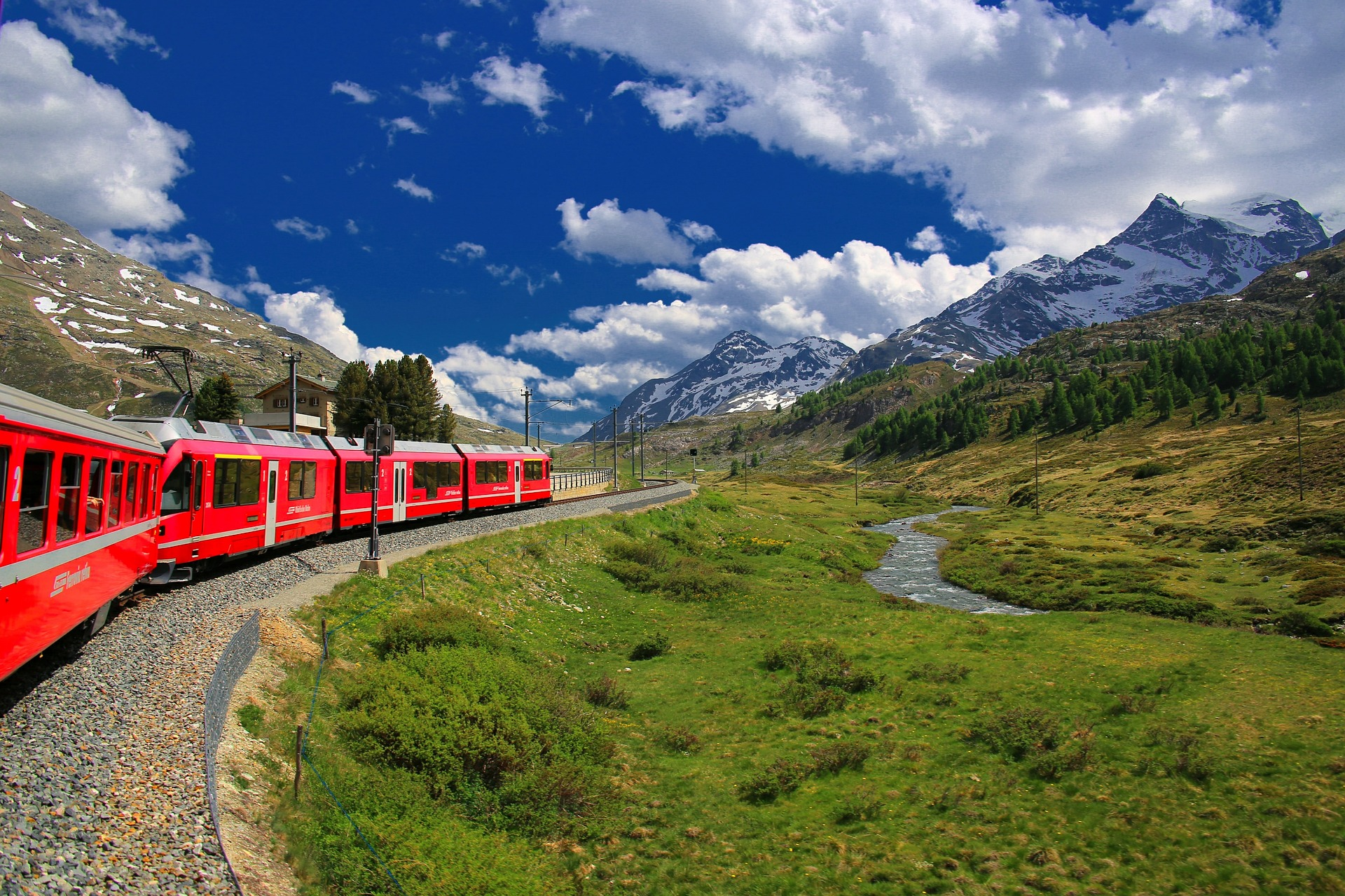 top 5 panoramic trains in Switzerland - glacier